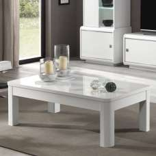 Enox Coffee Table Rectangular In White High Gloss