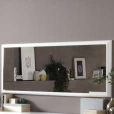 Enox Large Wall Mirror Rectangular In White High Gloss