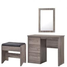 Curio Cream High Gloss Finish Dressing Table With 1 Drawer