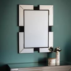 Evita Wall Mirror Rectangular In Clear Glass