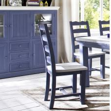 Falcon Dining Chair In Blue And White Pine