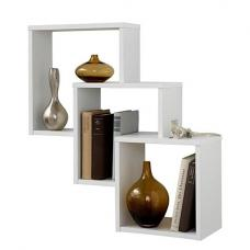 Fibi Trio Wooden Wall Mounted Display Shelves In White