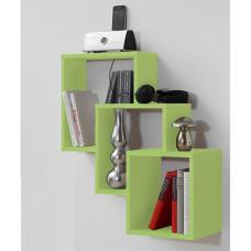 Fibi Trio Wooden Wall Shelf in Light Green