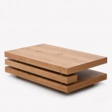 Fillippo Wooden Coffee Table Rectangular In White Oak