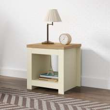 Fiona Wooden Lamp Table Square In Cream And Oak