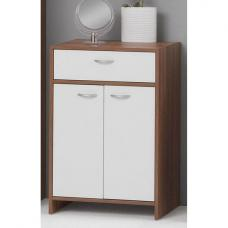Madrid5 Wide Bathroom Cabinet In Plumtree And White With 2 Door