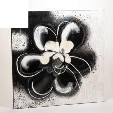 Black And White Flower Canvas Wall Art