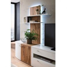 Franzea Wall Mounted Display Shelf In Wotan Oak And LED