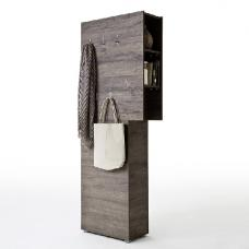 Genie Modern Coat Rack In Wenge With 5 Hooks
