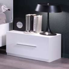 Gianna Bedside Cabinet In White Gloss With 1 Drawer