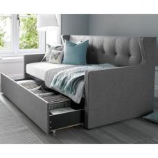 Gilford Contemporary Fabric Sofa Bed In Grey