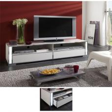 Lucent High Gloss White Plasma TV Stand