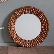 Gravois Contemporary Wall Mirror Round In Bronze