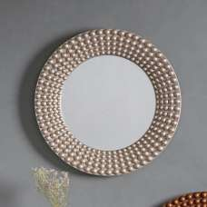 Gravois Contemporary Wall Mirror Round In Silver