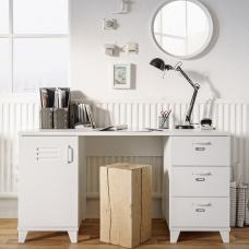 Hampstead Wooden Computer Desk Rectangular In White