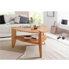 Harriet Wooden Coffee Table In Core Beech With Undershelf