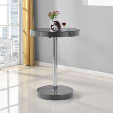 Havana Round Bar Table In Grey High Gloss