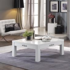 Hazel Coffee Table Square In White High Gloss