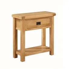 Heaton Wooden Medium Console Table In Solid Oak With 1 Drawer