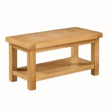 London urban chic rectangular wooden coffee table with for Small wood coffee table