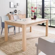 Helena Wooden Extendable Dining Table In Sonoma Oak