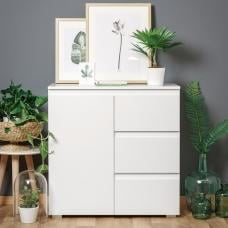 Hilary Contemporary Wooden Chest Of Drawers In White