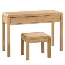 Holborn Wooden Dressing Table And Stool In Oak