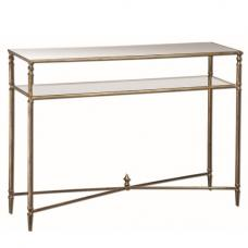 Holly Mirrored Glass Console Table In Clear With Metal Frame