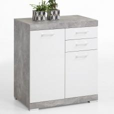 Holte Sideboard In Light Atelier And Glossy White With 2 Drawers