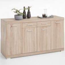 Holte Wooden Sideboard In Oak Tree With 4 Doors