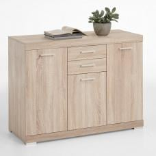 Holte Wooden Sideboard Small In Oak Tree With 3 Doors