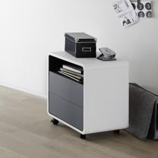 Houston Modern Office Pedestal In White And Anthracite
