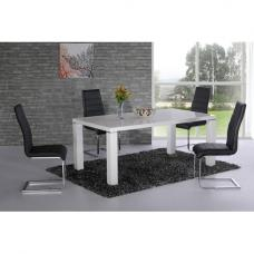 Danata High Gloss Designer Dining Table And 6 Dining Chairs