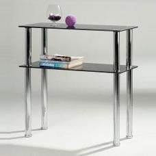 Hudson Black Glass Console Table
