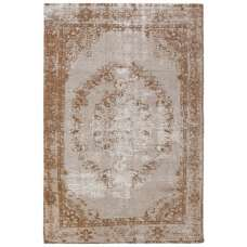 Jacquard Woven Beige And Brown Rug