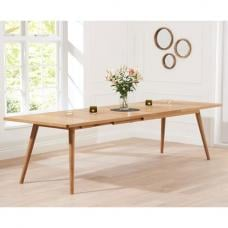Javelin Wooden Large Extendable Dining Table In Solid Oak