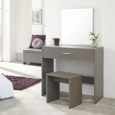 Jayden Contemporary Wooden Dressing Table Set In Grey