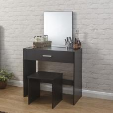 Jayden Contemporary Wooden Dressing Table Set In Espresso
