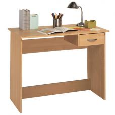 Jonas Wooden Computer Desk In Beech With 1 Drawer