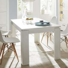 Kaira Wooden Dining Table Rectangular In White Pine