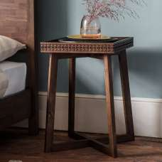 Kelton Retreat Wooden Side Table Square In Mango Wood