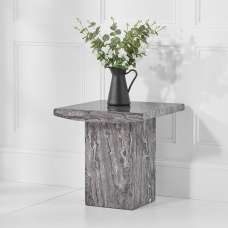 Kempton Marble Lamp Table Square In Grey