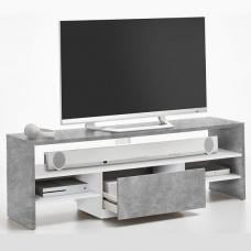 Kingsway Wooden TV Stand In Light Atelier And White