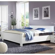Krefeld Wooden King Size Bed In White