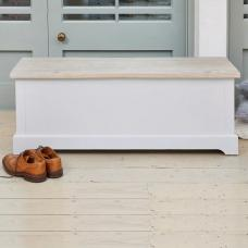 Krista Wooden Hallway Storage Bench In Grey With Flip Top