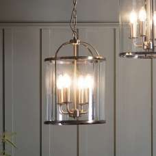 Lambeth Four Pendant Light In Antique Brass Finish