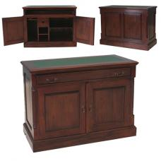 Belarus Hidden Home Office Computer Desk In Mahogany