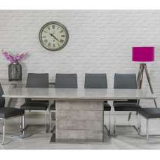 Laurel Extendable Dining Table Rectangular In Concrete Effect