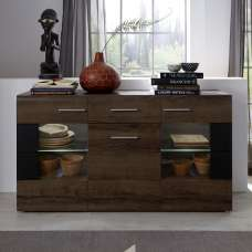 Lerida Sideboard In Monastary Oak With 3 Doors And 1 Drawer