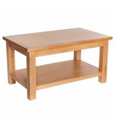 Lexington Wooden Coffee Table Rectangular In Oak With Undershelf